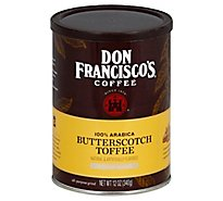 Don Franciscos Coffee All Purpose Grind Medium Roast Butterscotch Toffee - 12 Oz