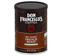 Don Franciscos Coffee All Purpose Grind Dark Roast French Roast - 12 Oz