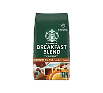 Starbucks Coffee Ground Medium Roast Breakfast Blend Bag - 12 Oz