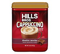 Hills Brothers. Cappuccino Drink Mix Double Mocha - 16 Oz