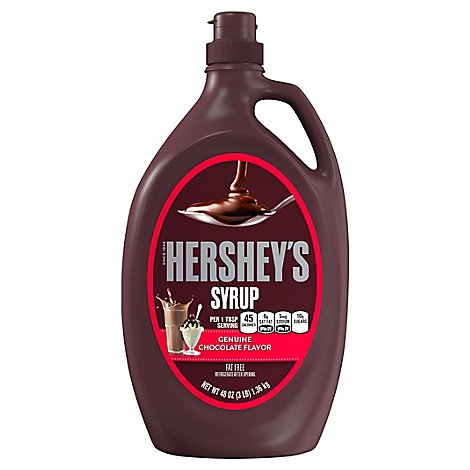 HERSHEYS Syrup Genuine Chocolate Flavor - 48 Oz