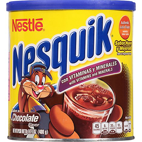 Nesquik Powder Drink Mix Chocolate Flavor - 14.1 Oz