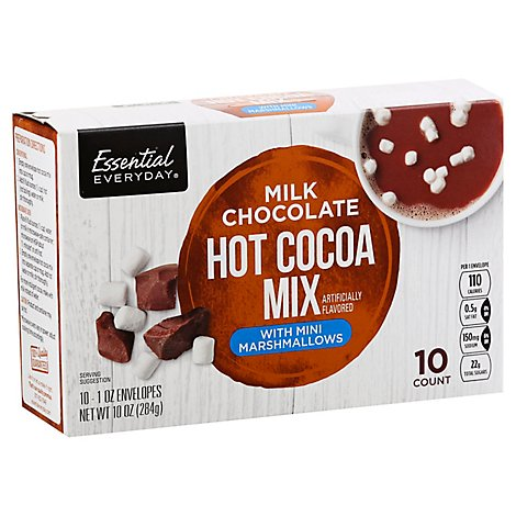 Essential Everyday Cocoa Mix Hot Milk Chocolate With Mini Marshmallows - 10-1 Oz