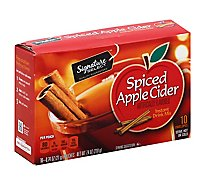 Signature SELECT Drink Mix Instant Spiced Apple Cider - 10-0.74 Oz