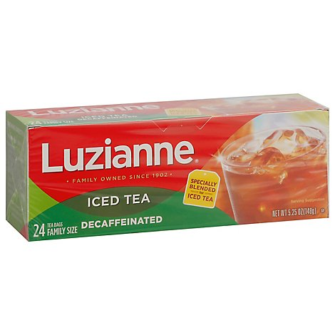 Luzianne Iced Tea Decaffeinated - 24 Count