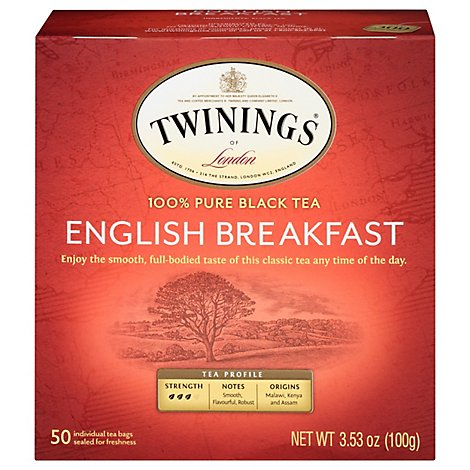 Twinings of London Black Tea English Breakfast - 50 Count