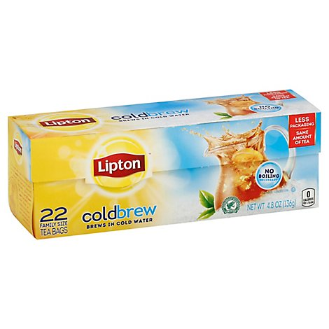 Lipton ColdBrew Iced Tea Family Size Tea Bags - 22 Count