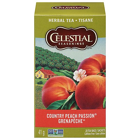Celestial Seasonings Herbal Tea Bags Caffeine Free Country Peach Passion 20 Count - 1.4 Oz