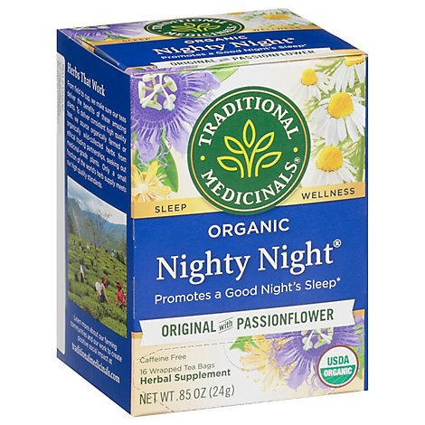 Traditional Medicinals Herbal Tea Organic Laxative Nighty Night - 16 Count