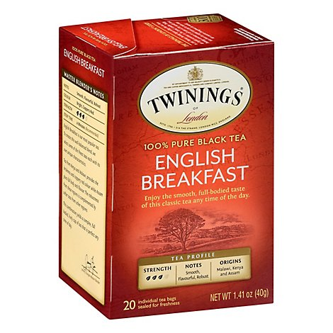 Twinings of London Black Tea English Breakfast - 20 Count