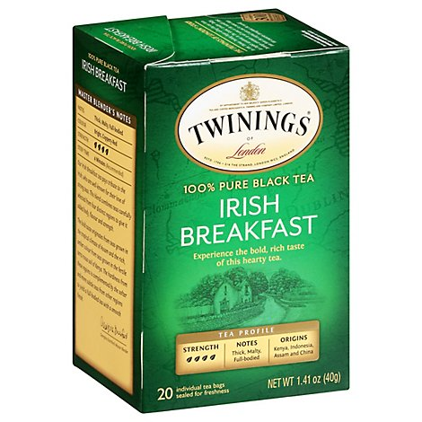 Twinings of London Black Tea Irish Breakfast - 20 Count
