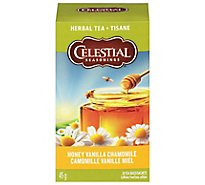 Celestial Seasonings Herbal Tea Bags Caffeine Free Honey Vanilla Chamomile 20 Count - 1.7 Oz
