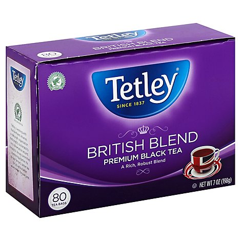 Tetley Black Tea Premium British Blend - 80 Count