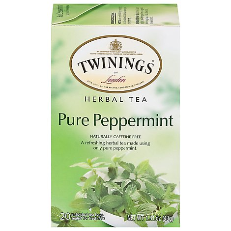 Twinings of London Herbal Tea Caffeine Free Pure Peppermint - 20 Count