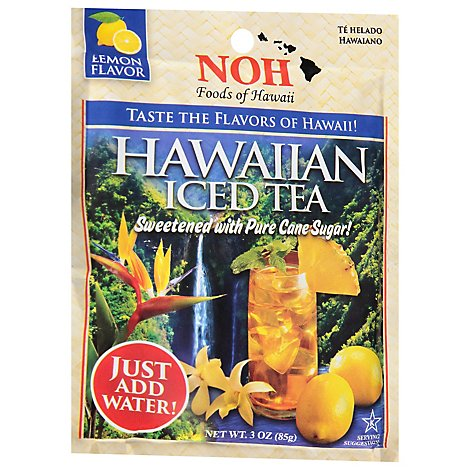 NOH Foods of Hawaii Iced Tea Hawaiian Lemon Flavor - 3 Oz