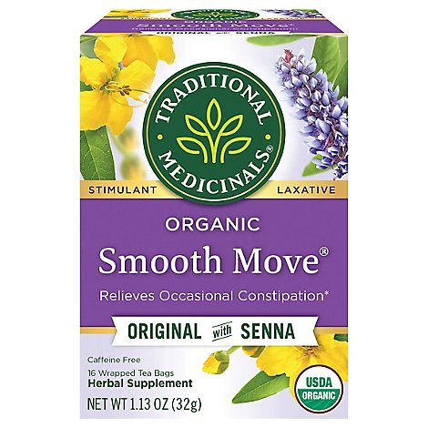 Traditional Medicinals Herbal Tea Organic Laxative Smooth Move - 16 Count
