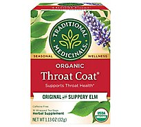 Traditional Medicinals Herbal Tea Organic Seasonal Organic Throat Coat - 16 Count