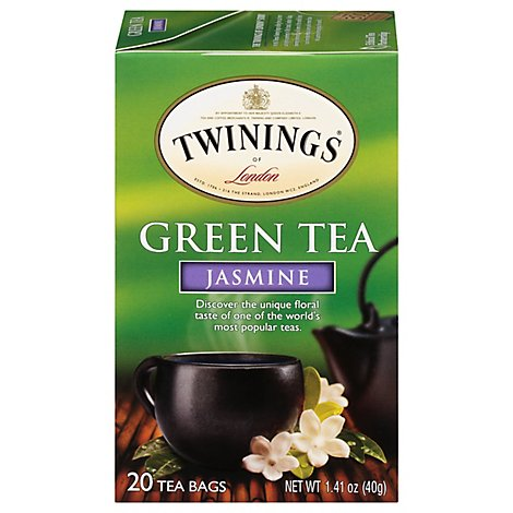 Twinings of London Green Tea Jasmine - 20 Count