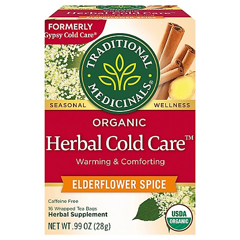 Traditional Medicinals Herbal Tea Organic Seasonal Organic Gypsy Cold Care - 16 Count