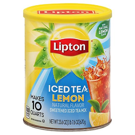 Lipton Iced Tea Mix Sweetened Lemon - 23.6 Oz