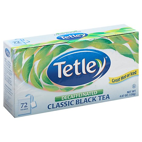 Tetley Black Tea Classic Decaffeinated - 72 Count