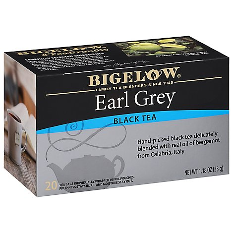 Bigelow Black Tea Bags Earl Grey 20 count - 1.18 Oz
