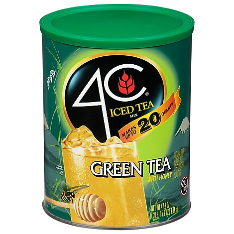 4C Iced Tea Mix Green Tea With Honey - 47.2 Oz