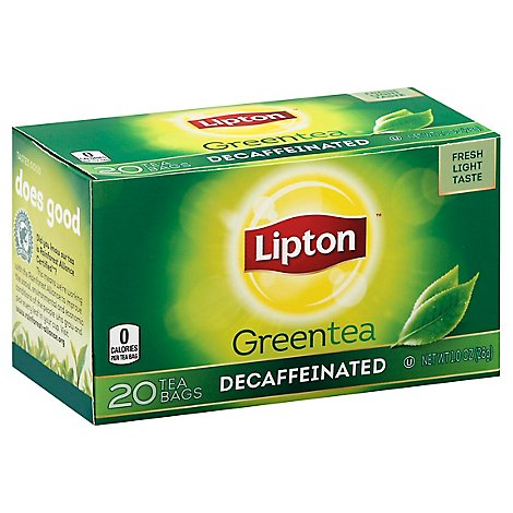 Lipton Green Tea Decaffeinated - 20 Count