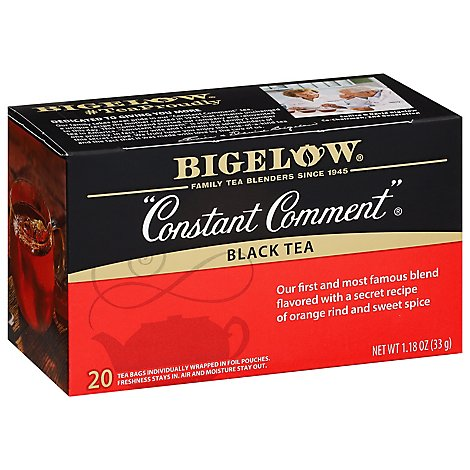 Bigelow Constant Comment Tea Bags Flavored with Rind of Oranges and Spice 20 Count - 1.18 Oz