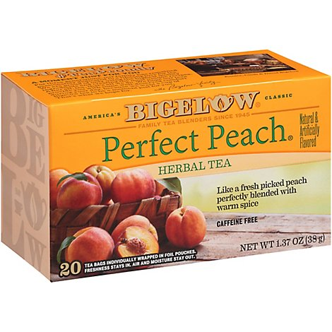 Bigelow Tea Bags Herb Perfect Peach 20 Count - 1.37 Oz