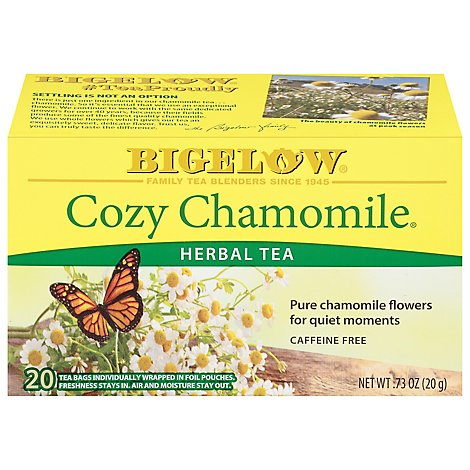 Bigelow Tea Bags Herb Cozy Chamomile 20 Count - 0.73 Oz