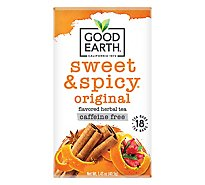 Good Earth Tea Herbal Caffeine Free Sweet & Spicy 18 Count - 1.43 Oz