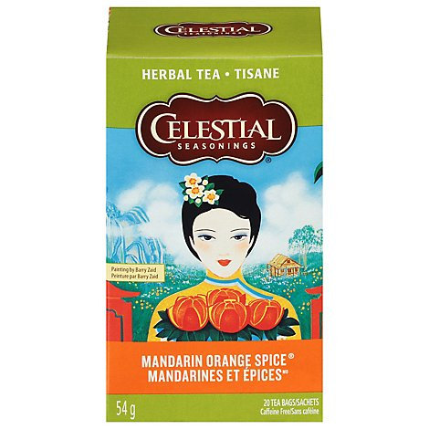 Celestial Seasonings Herbal Tea Caffeine Free Mandarin Orange Spice - 20 Count