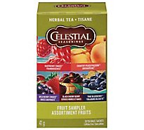 Celestial Seasonings Herbal Tea Bags Caffeine Free Fruit Tea Sampler 18 Count - 1.4 Oz