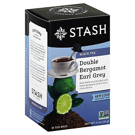 Stash Black Tea Double Bergamot Earl Grey - 18 Count