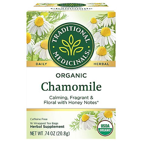Traditional Medicinals Herbal Tea Organic Chamomile - 16 Count