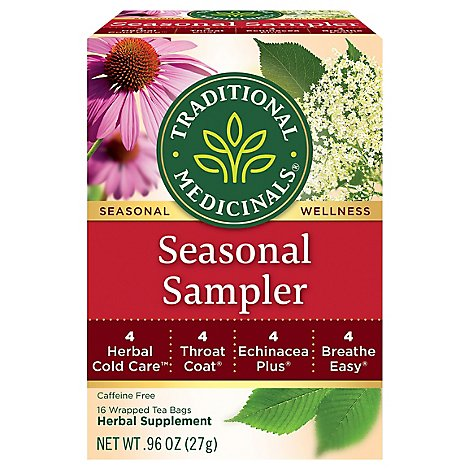 Traditional Medicinals Herbal Tea Organic Seasonal Organic Seasonal Sampler - 16 Count