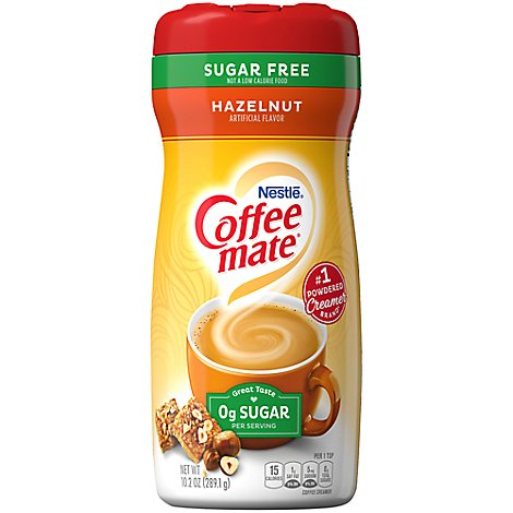Coffeemate Coffee Creamer Hazelnut Sugar Free - 10.2 Oz
