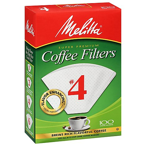 Melitta Coffee Filters Cone No. 4 Box - 100 Count