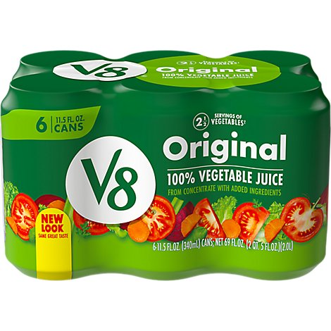 V8 Vegetable Juice Original - 6-11.5 Fl. Oz.
