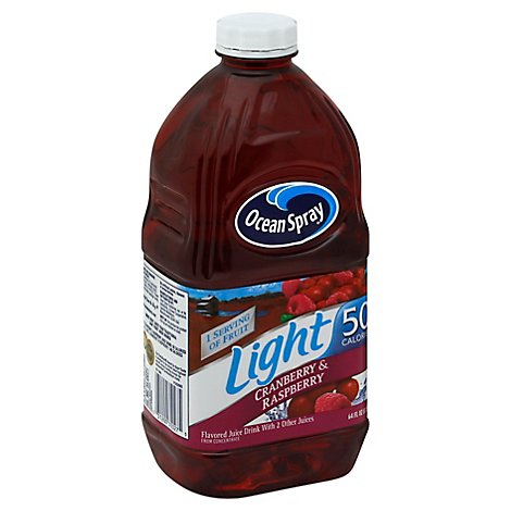 Ocean Spray Light Juice Cranberry & Raspberry - 64 Fl. Oz.