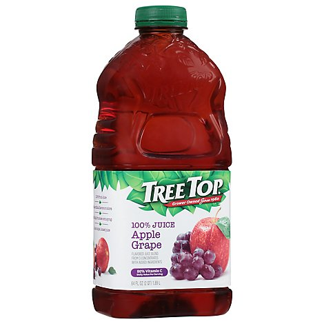 Tree Top Apple Juice 100% Apple Grape Juice - 64 Fl. Oz.