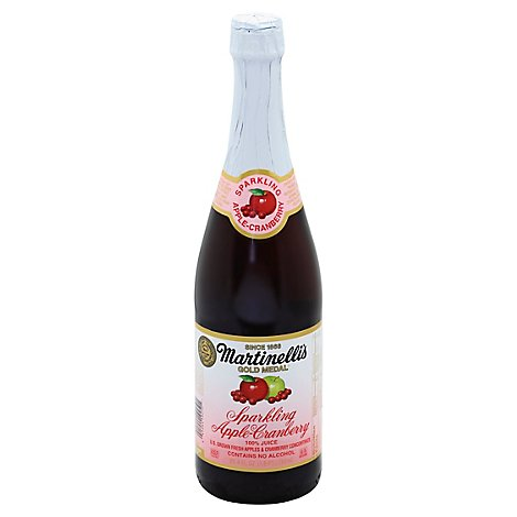 Martinellis Juice Gold Medal Sparkling Apple Cranberry - 25.4 Fl. Oz.