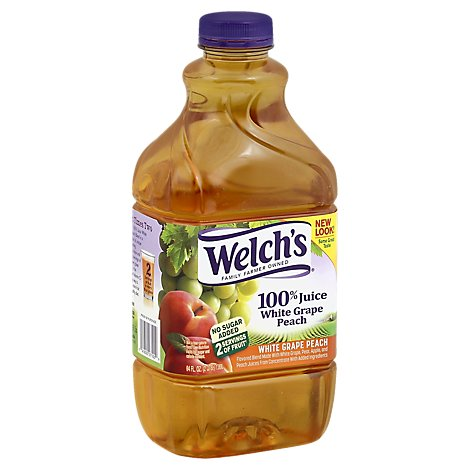 Welchs 100% Juice White Grape Peach - 64 Fl. Oz.