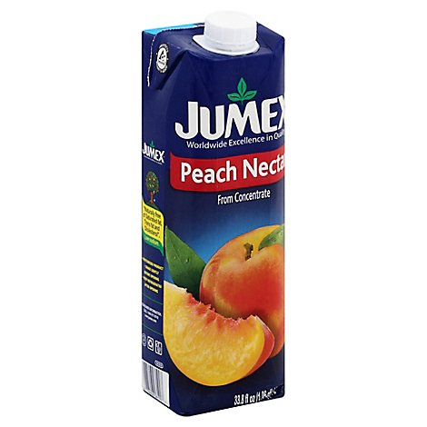 Jumex Nectar From Concentrate Peach Carton - 33.8 Fl. Oz.