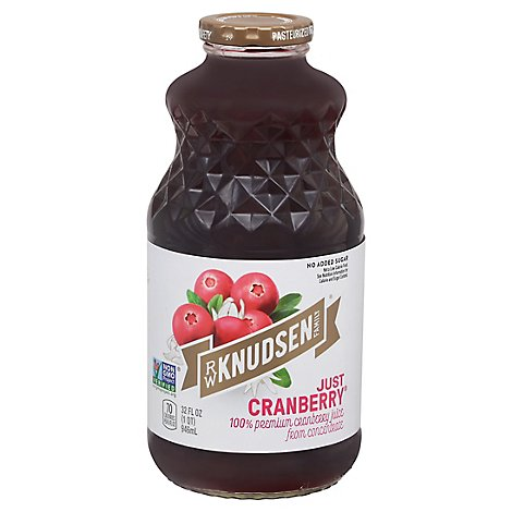 R.W. Knudsen 100% Juice Just Cranberry - 32 Fl. Oz.