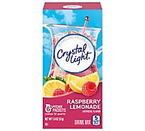 Crystal Light Drink Mix Pitcher Packs Raspberry Lemonade Tub 6 Count - 1.8 Oz