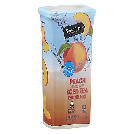 Signature SELECT Drink Mix Sugar Free Peach Iced Tea - 6-0.25 Oz