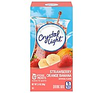 Crystal Light Drink Mix Pitcher Packs Strawberry Orange Banana Tub 6 Count - 2.4 Oz
