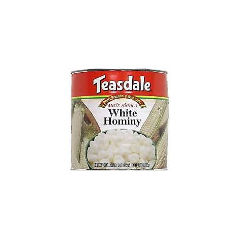 Teasdale Hominy White Can - 108 Oz